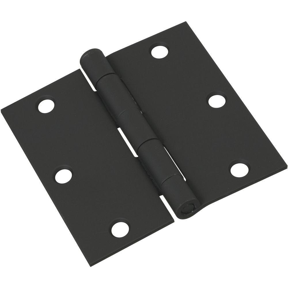 3-1/2 in. Door Hinge in Black