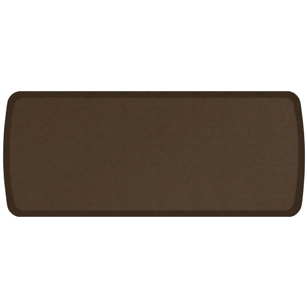 Elite Vintage Leather Rustic Brown 20 in. x 48 in. Comfort