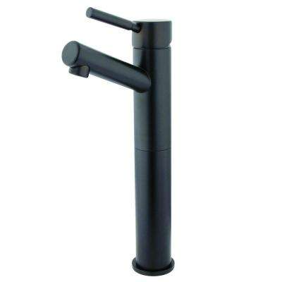 10 in. Single Hole Single-Handle High-Arc Vessel Bathroom Faucet in Oil Rubbed Bronze