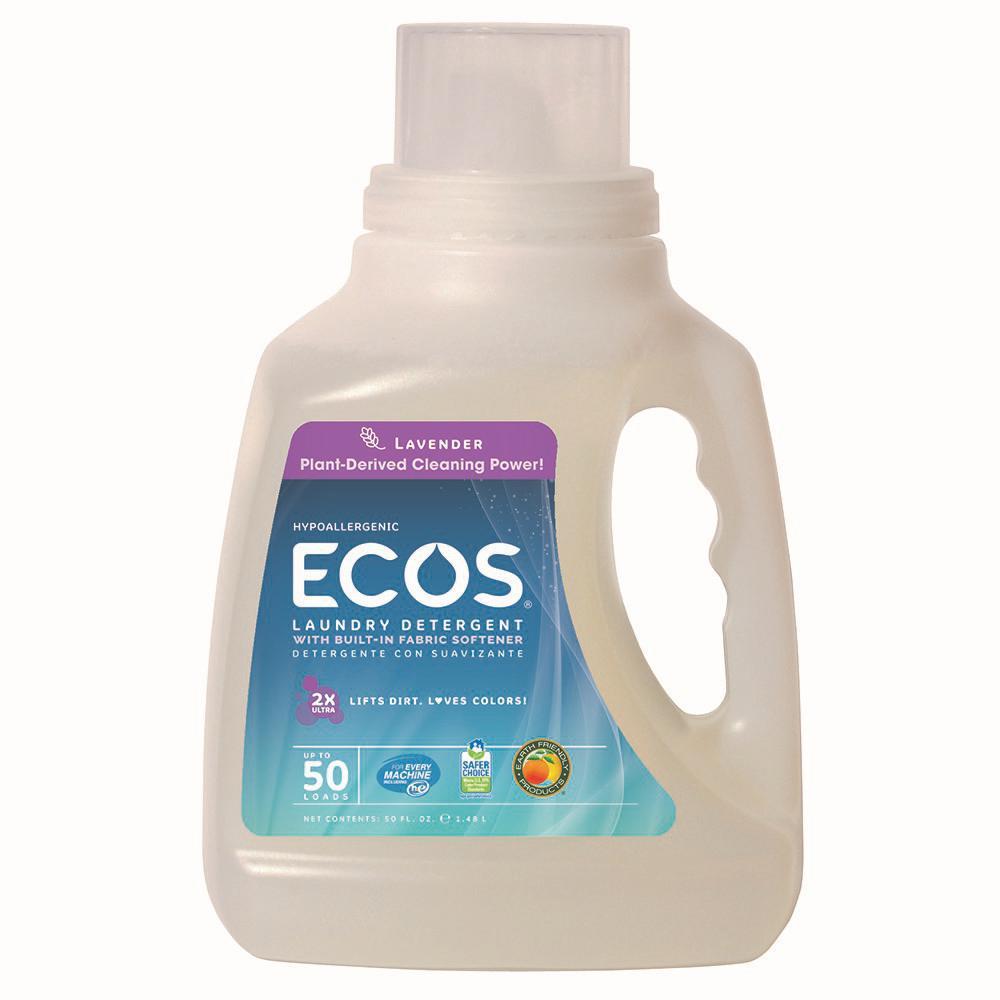 Ecos Laundry Detergent, Lavender, 50 Loads