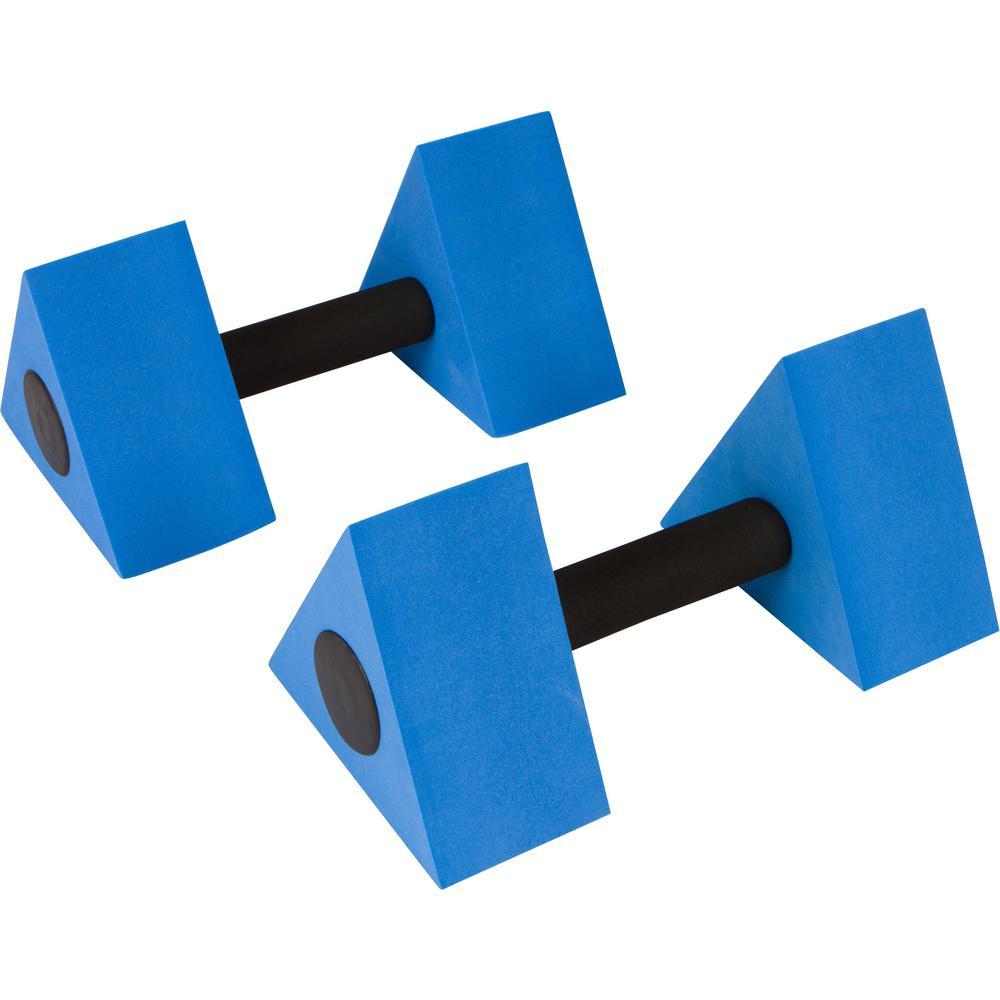 Water Aerobics 12 Inch Triangular Aquatic Exercise Dumbells - Set of 2