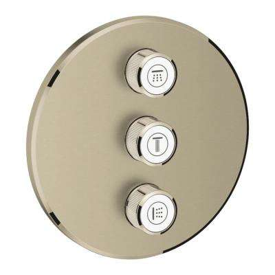 Grohtherm Smart Control Triple Volume Control Trim in Brushed Nickel