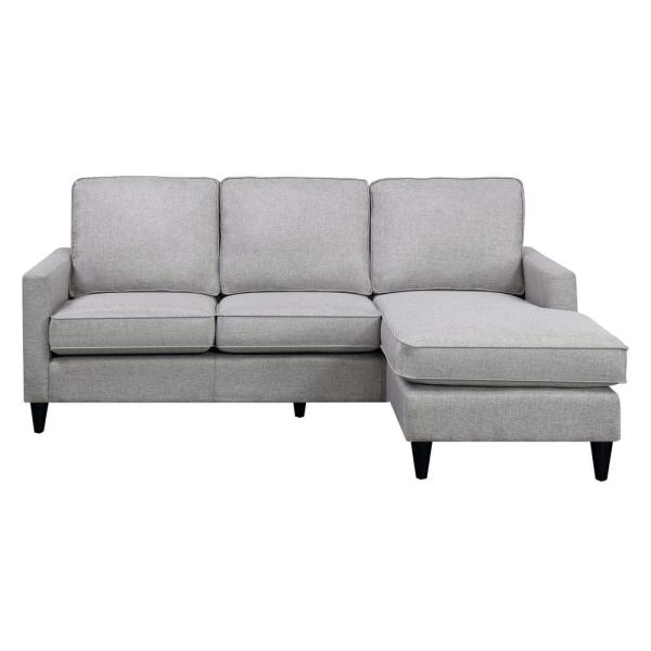 Nori Reversible Gray Chaise Sectional