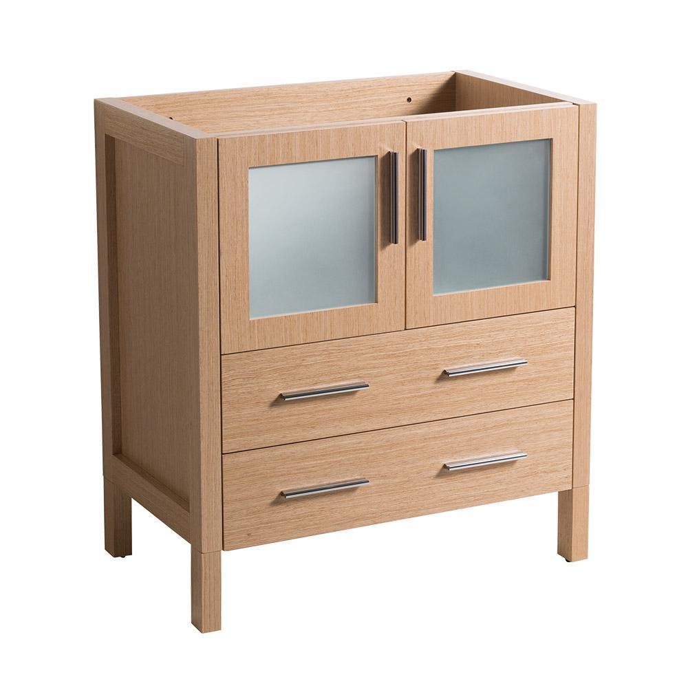 30 in. Torino Modern Bathroom Vanity Cabinet in Light Oak