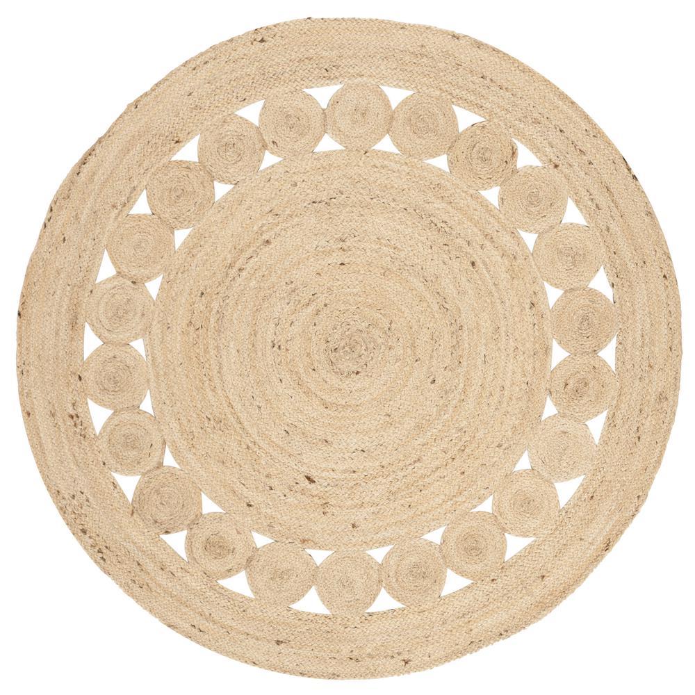 Natural Fiber Ivory 3 ft. x 3 ft. Round Indoor Area Rug