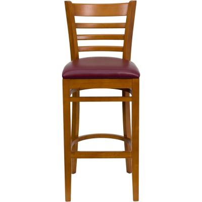 31 in. Burgundy and Cherry Cushioned Bar Stool
