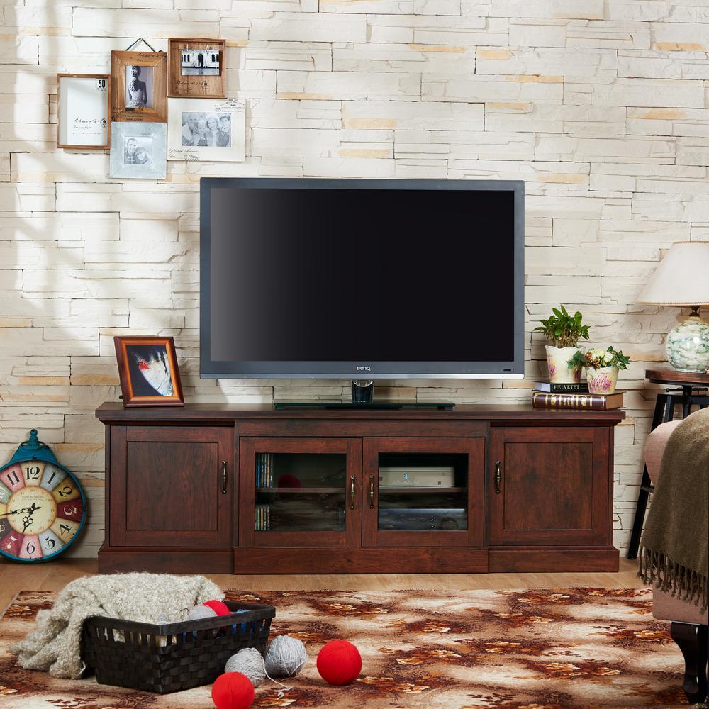 Internet #303391366. Furniture Of America Daleni Vintage Walnut ...
