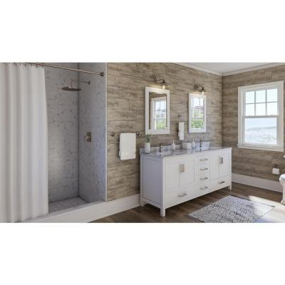 Outlast+ Waterproof Vintage Pewter Oak 10 mm T x 7.48 in. W x 47.24 in. L Laminate Flooring (19.63 sq. ft. / case)