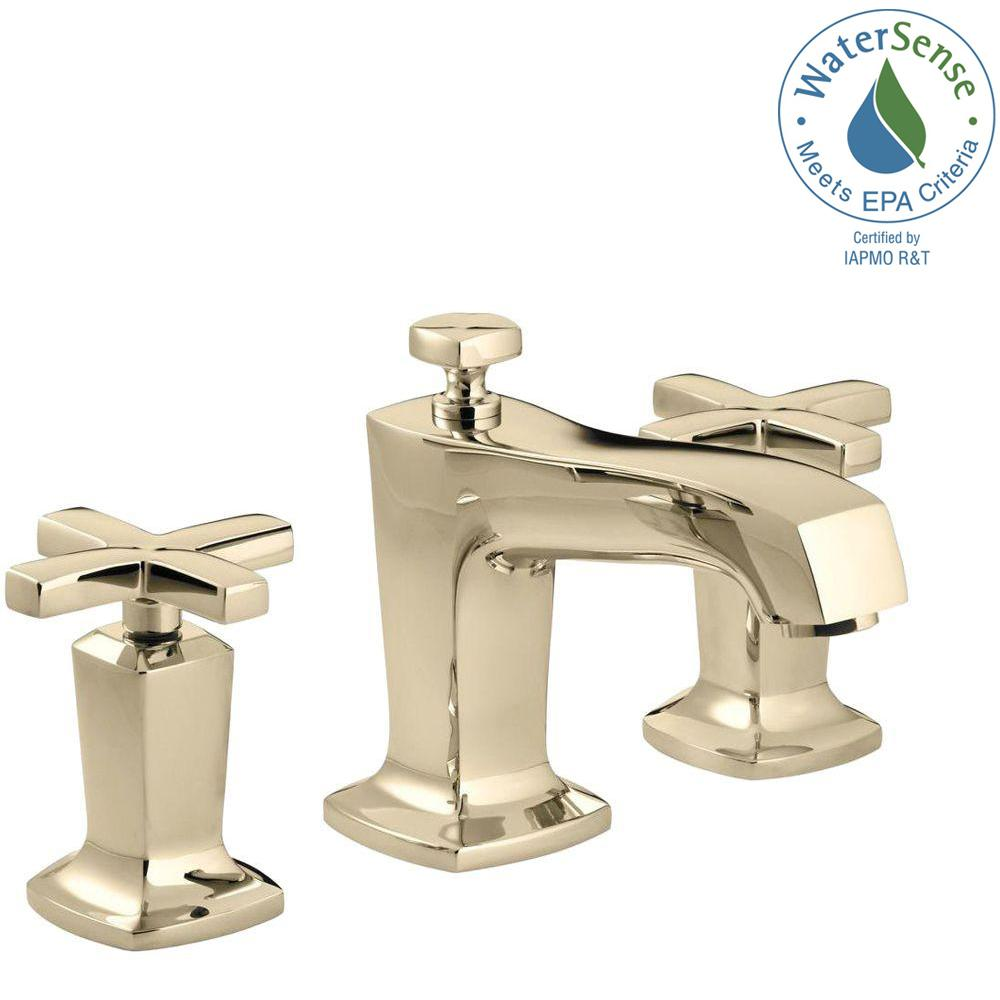 Kohler Margaux 8 In Widespread 2 Handle Water Saving Bathroom Faucet In Vibrant French Gold