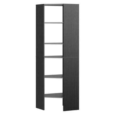 Style+ 25.12 in. D x 25.12 in. W x 82.46 in. H Noir Wood Closet System Corner Tower