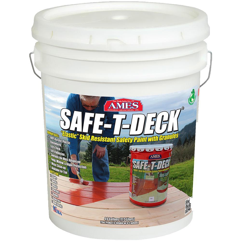 Safe-T-Deck 5 gal. Granulated-Slip Resistant Waterproof Elastomeric Deck Coating in Tintable White