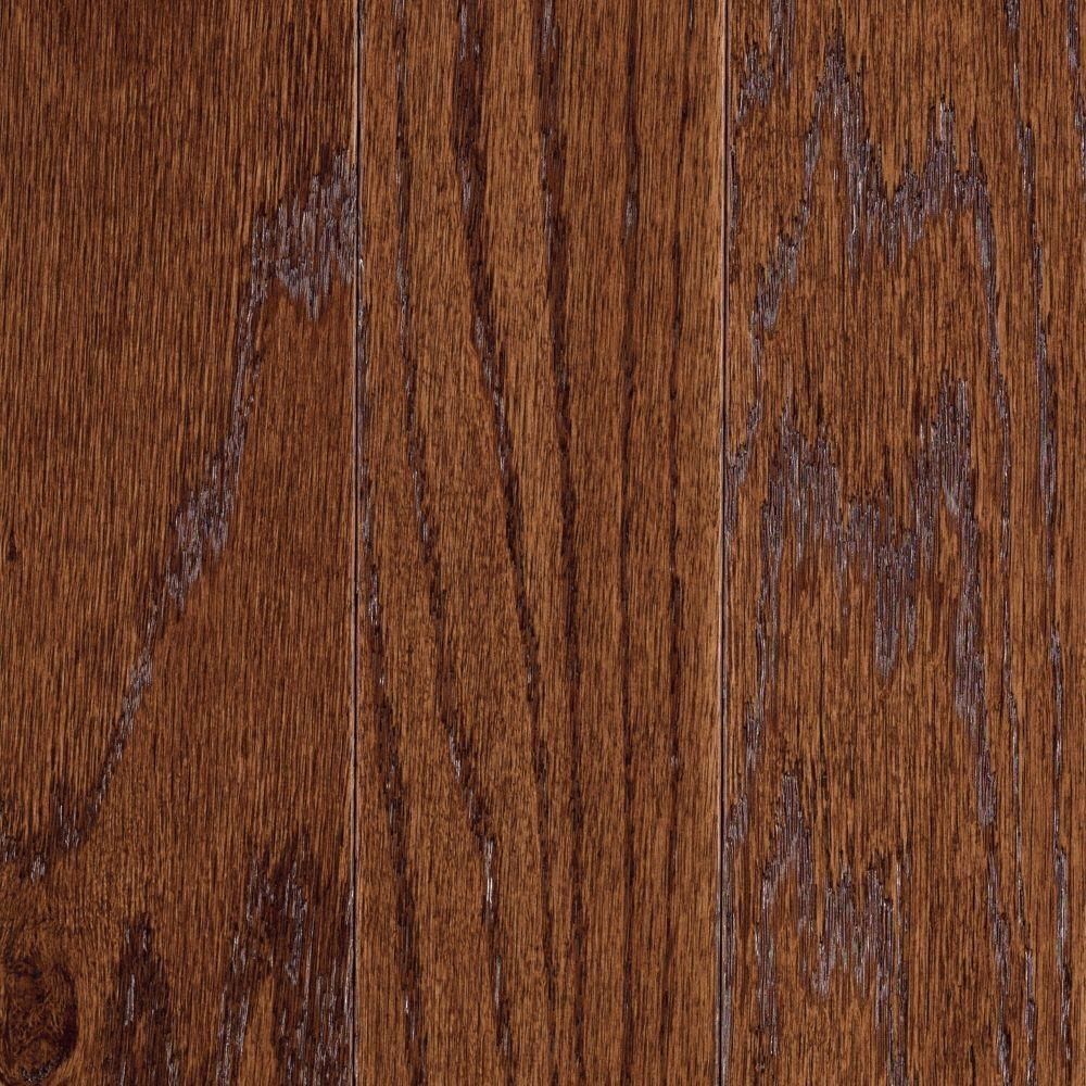 Mohawk Hardwood Flooring Reviews Part - 47: Mohawk Take Home Sample - Monument Butternut Oak Engineered Hardwood  Flooring - 5 In. X