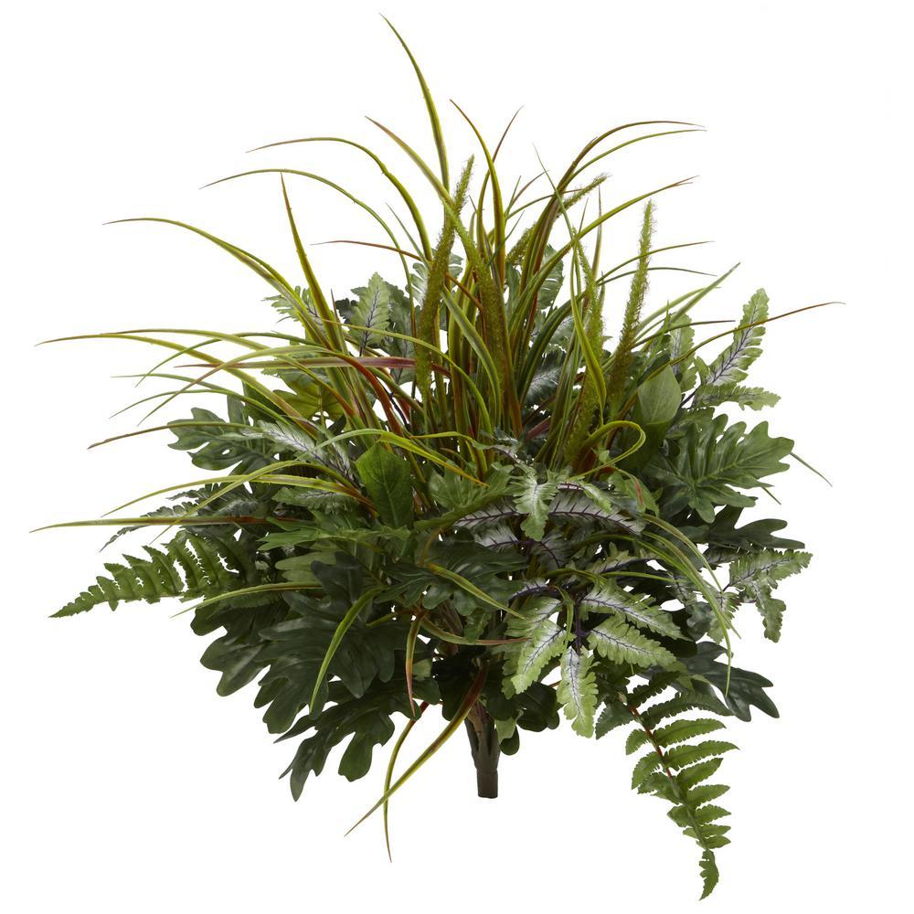 Indoor 28 in. Mix Greens Artificial Plant (2-Set)