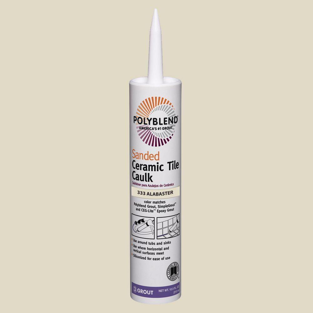Custom building products polyblend 333 alabaster 105 oz sanded custom building products polyblend 333 alabaster 105 oz sanded ceramic tile caulk pc33310s the home depot dailygadgetfo Images