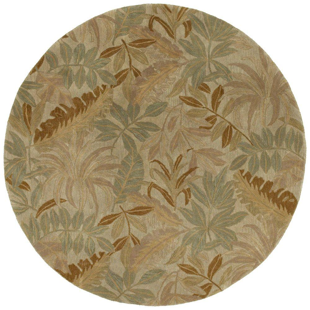 Kaleen Tara Giovanni Sand 11 ft. 9 in. x 11 ft. 9 in. Round Area Rug
