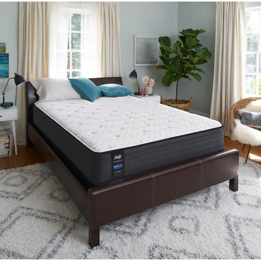 Sealy Response Performance 13 In Queen Cushion Firm Euro Top Mattress With 9 High Profile Foundation Set