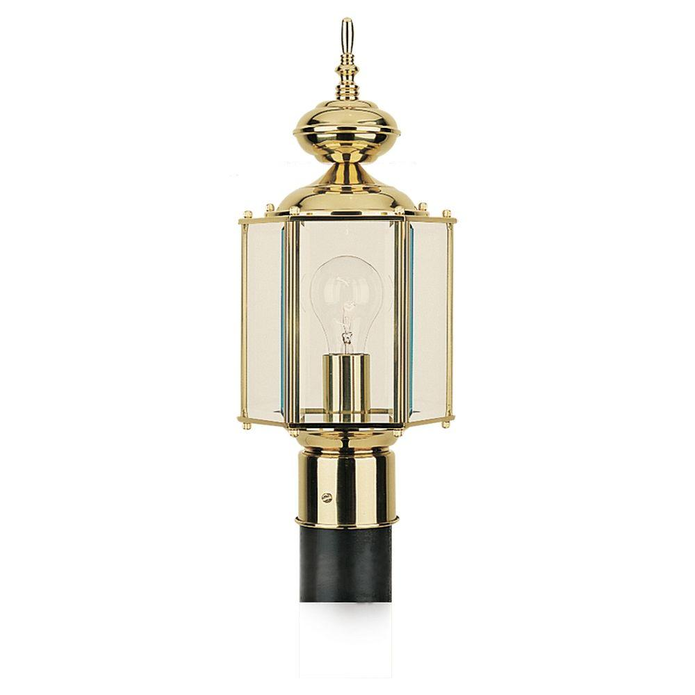 Belmar 1-Light Polished Brass Outdoor Post Top
