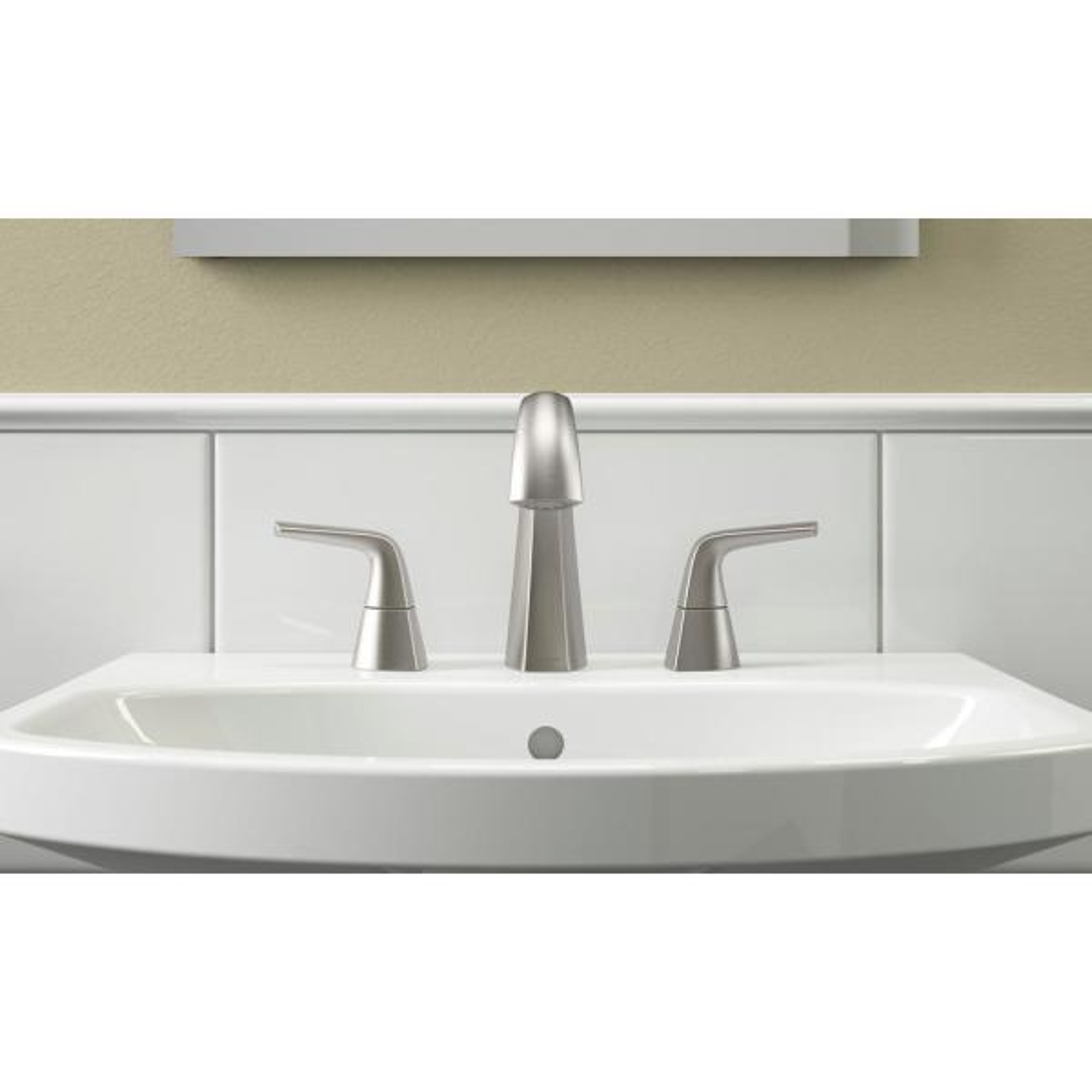Kohler Elmbrook 8 In Widespread 2 Handle Bathroom Faucet In Brushed Nickel K R21996 4d Bn The Home Depot