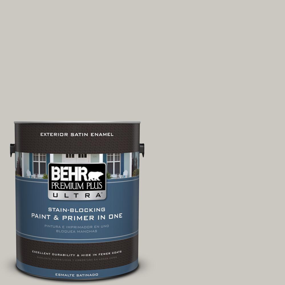 1 gal. #PPU24-12 Whitewash Oak Satin Enamel Exterior Paint and Primer