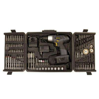91 Piece 18 Volt Two Speed Drill Accessory Combo Kit