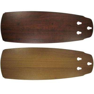 Replacement Medium Walnut/Dark Cherry Blades for 52 in. Heirloom Fan Only