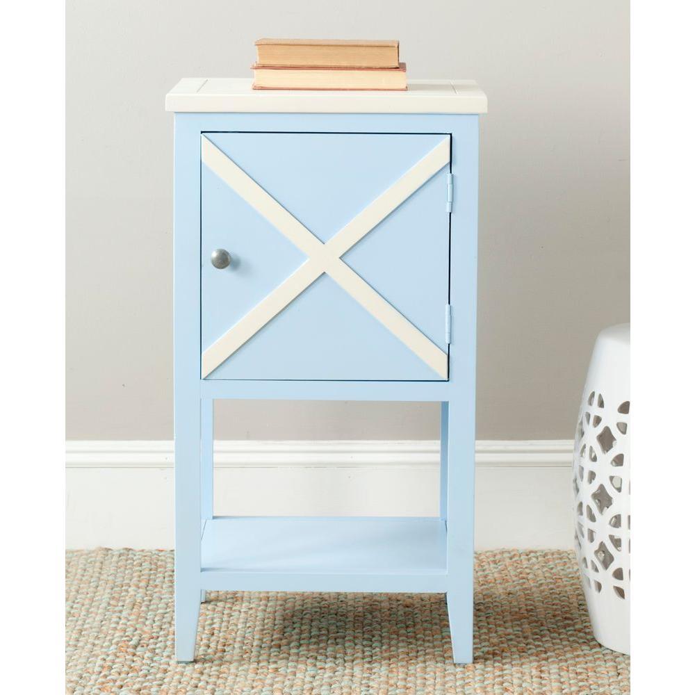 Fine Safavieh Ward Light Blue And White Storage Side Table Forskolin Free Trial Chair Design Images Forskolin Free Trialorg