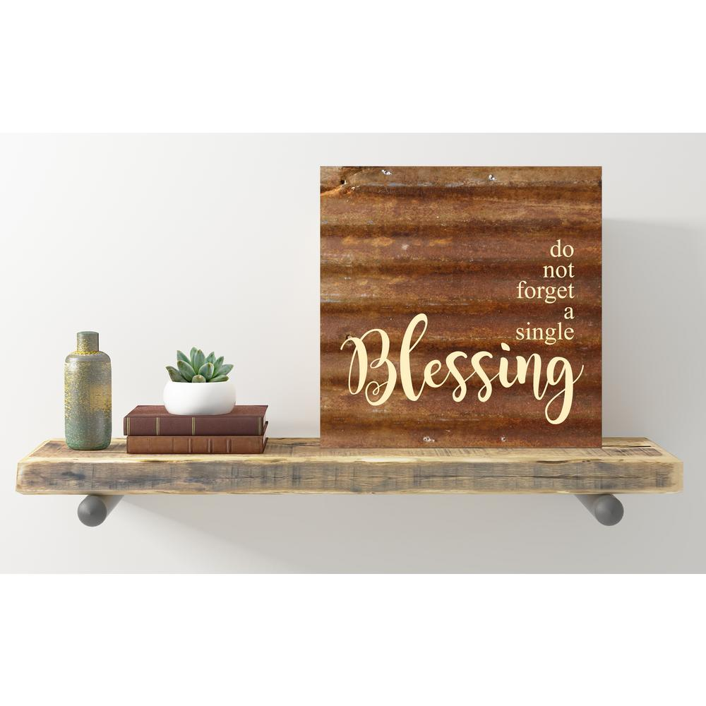 "Reclaimed Steel Metal Wall Art ""DO NOT FORGET A SINGLE BLESSING"""