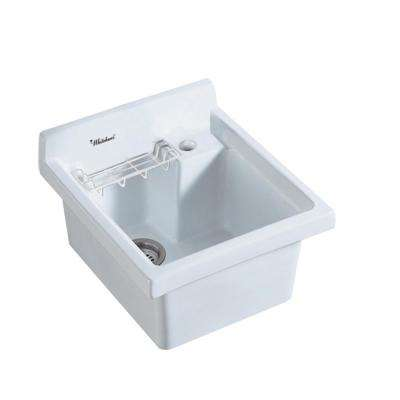 All-in-One Drop-in Vitreous China 21 in. 1-Hole Single Bowl Kitchen Sink in White