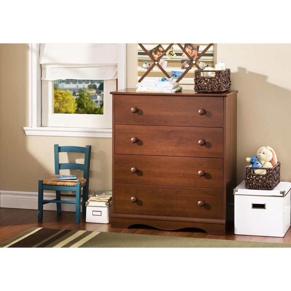 South Shore Heavenly 4-Drawer Royal Cherry Chest