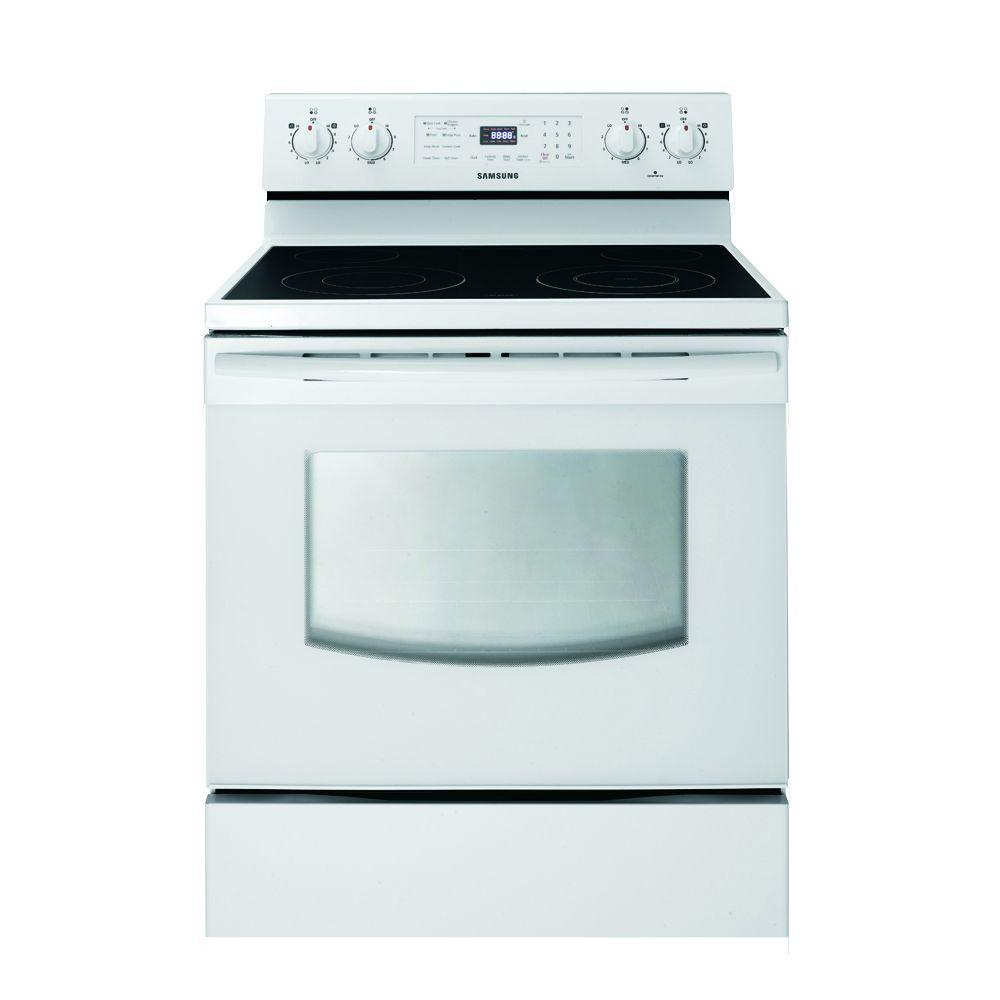 Samsung 5.9 cu. ft. Electric Range with Self-Cleaning in White