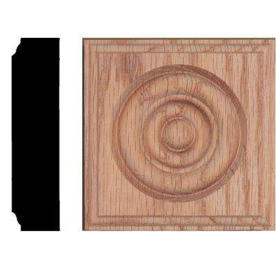 3-1/2 in. x 3-1/2 in. x 7/8 in. Oak Rosette Moulding