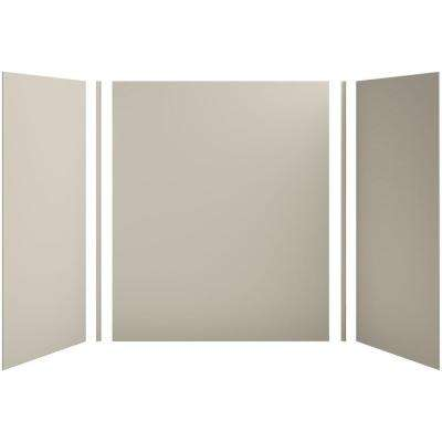 Choreograph 60in. X 36 in. x 72 in. 5-Piece Bath/Shower Wall Surround in Sandbar for 72 in. Bath/Showers