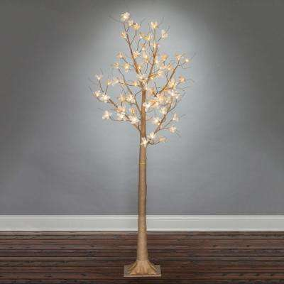 6' Lit Magnolia Tree with 72 Warm White Lights
