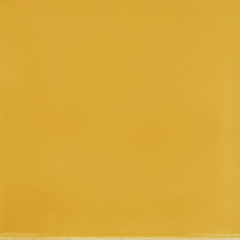 Solistone Hand-Painted Yellow Sol 6 in. x 6 in. x 6.35 mm Ceramic Wall Tile (2.5 sq. ft. / case)