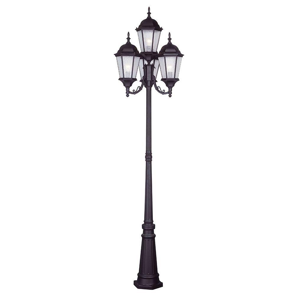 Livex Lighting Providence 4-Light Outdoor Bronze Incandescent Post Light