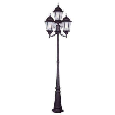 Providence 4-Light Outdoor Bronze Incandescent Post Light