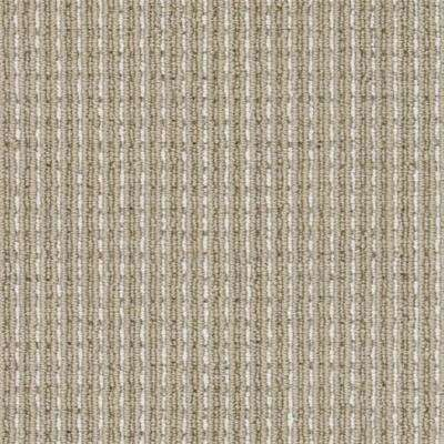 Carpet Sample - Upland Heights - Color Khaki Pattern Loop 8 in. x 8 in.