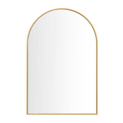 Medium Arched Gold Classic Accent Mirror (35 in. H x 24 in. W)