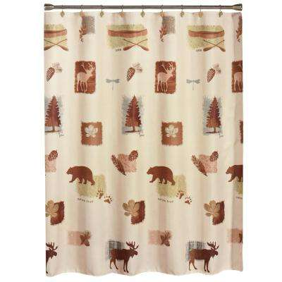 72 in. Natures Trail Fabric Shower Curtain