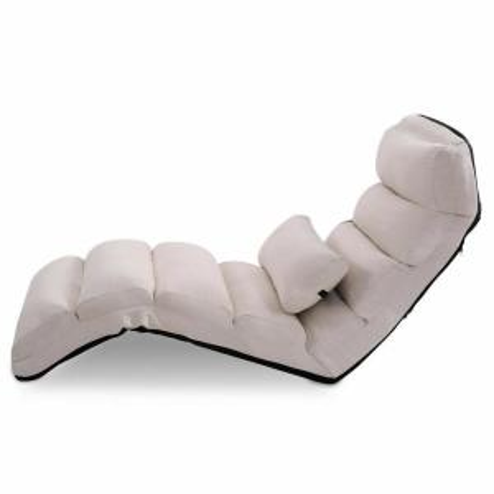Fine Costway Beige Folding Lazy Sofa Chair Stylish Sofa Couch Cjindustries Chair Design For Home Cjindustriesco