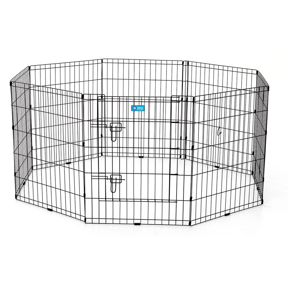 Pet Exercise Pen With Dual Latch Door