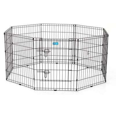 30 in. Pet Exercise Pen with Dual Latch Door