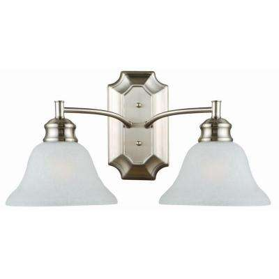 Bristol 2-Light Satin Nickel Wall Mount Light