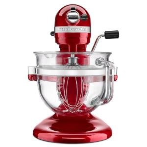 Pro 600 Design Series 6 Qt. 10-Speed Candy Apple Red Stand Mixer with Bowl  Lift
