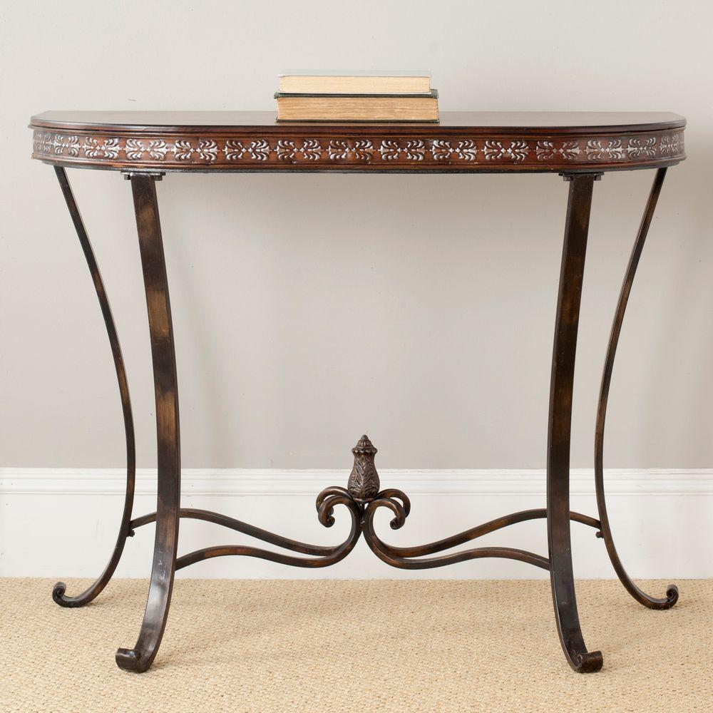 Safavieh Richard Brown and Copper Console TableAMH4042A The