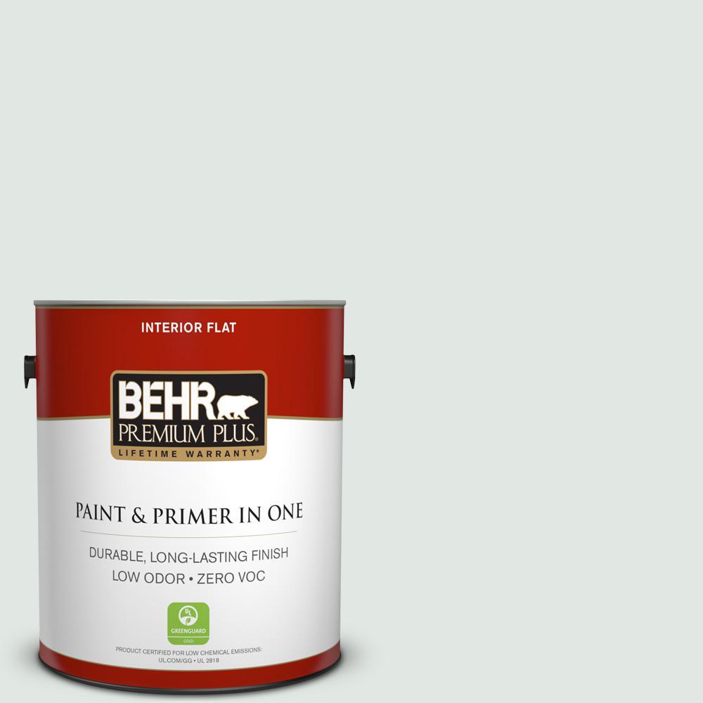 BEHR Premium Plus 1-gal. #PPL-56 Winter Veil Zero VOC Flat Interior Paint