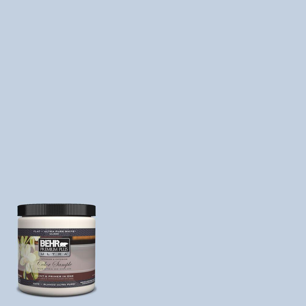 BEHR Premium Plus Ultra 8 oz. #580E-2 Saltwater Interior/Exterior Paint Sample