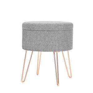 Cool Poly And Bark Hattie Gray Small Round Storage Stool Hd 362 Ocoug Best Dining Table And Chair Ideas Images Ocougorg
