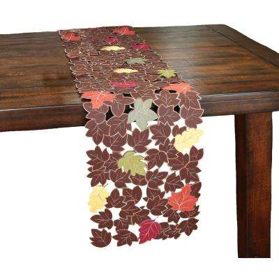 13 in. x 70 in. Forest Blanket with Poly-Suede Cutwork Table Runner