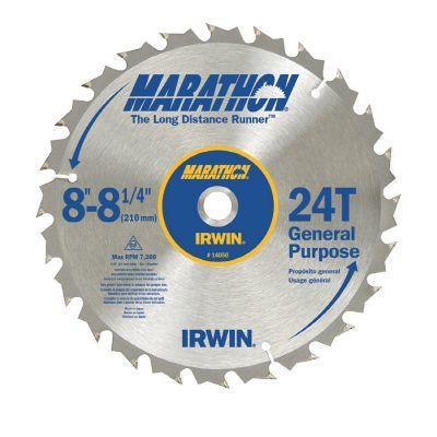 Irwin 8-1/4 In. /24T Marathon Miter & Table Saw Blade